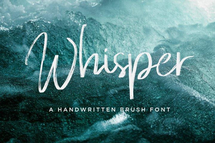 Whisper Brushes Script Font