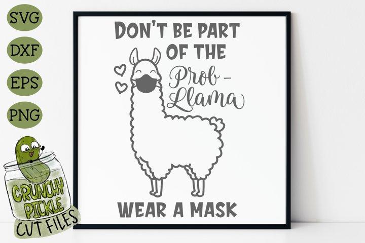 LLama Wear A Mask SVG Cut File