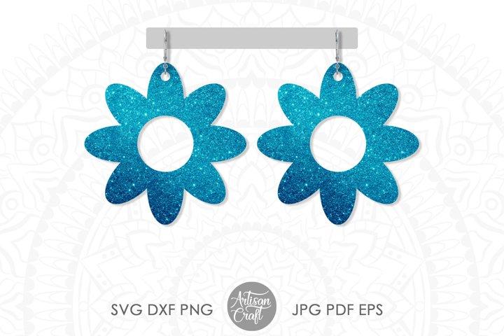 Earring SVG, Flower earrings SVG, leather earring patterns example 3