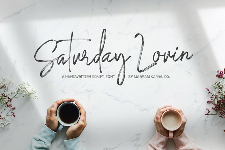 Saturday Lovin Font Collection