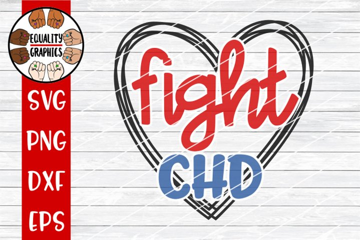Fight CHD Heart SVG | DXF | PNG