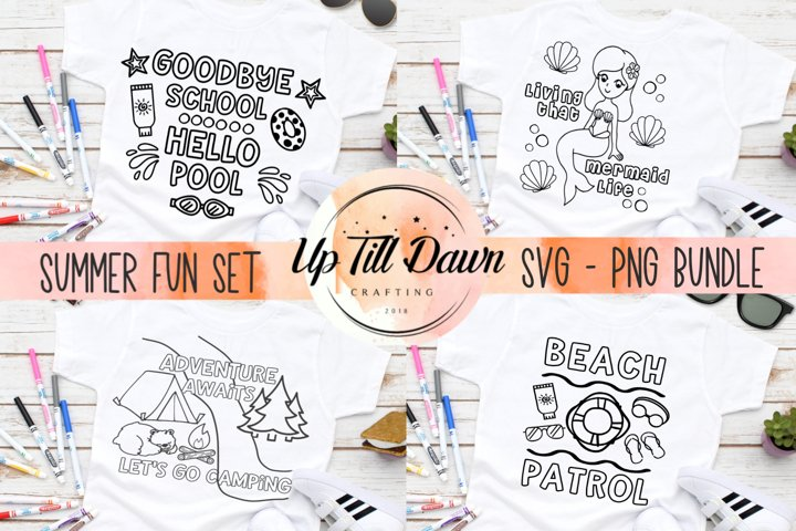 Summer Fun Coloring SVG Bundle