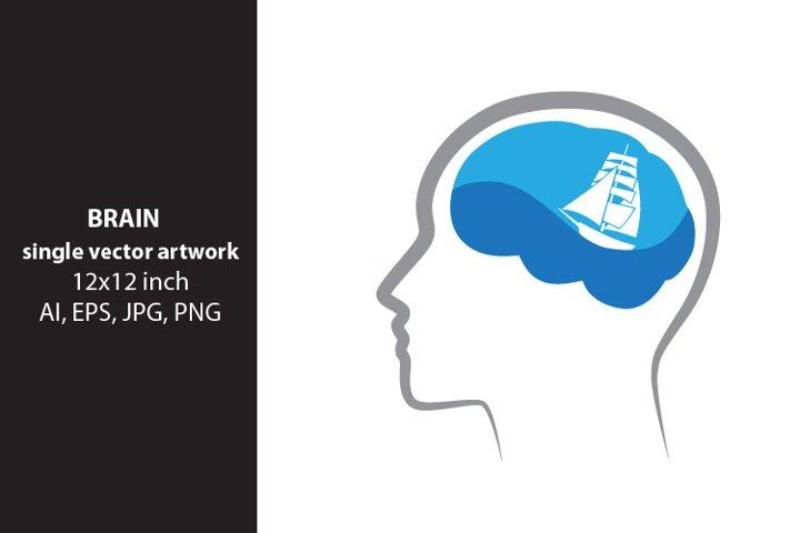 brain waves, vector