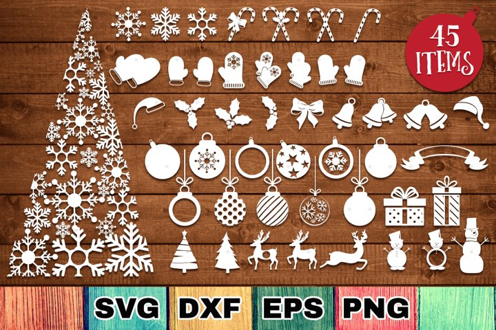 Christmas Bundle with 45 SVG Cut Files