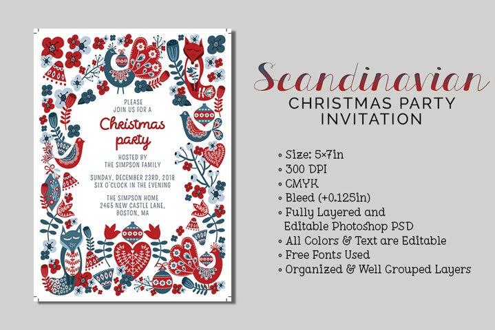 Scandinavian Christmas Party Invite