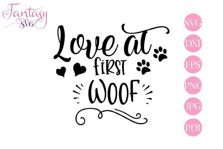 Love At First Woof - Svg Cut Files