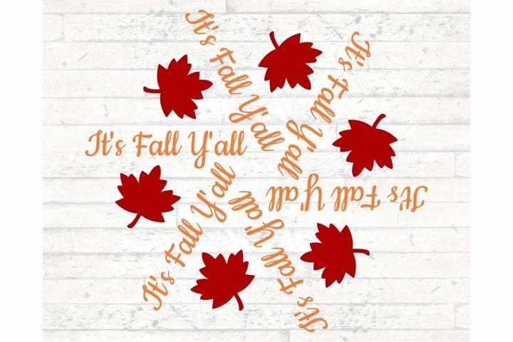 Its Fall Yall SVG