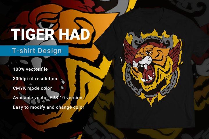 Tiger Mascot | T-Shirt Design