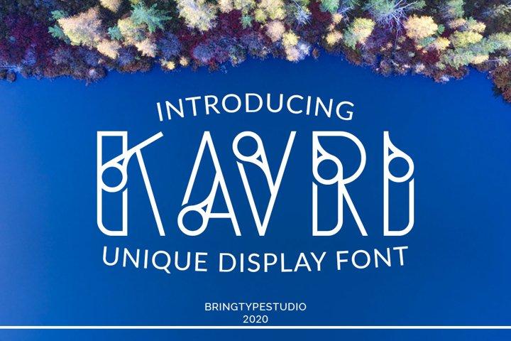 Kavri Display Font