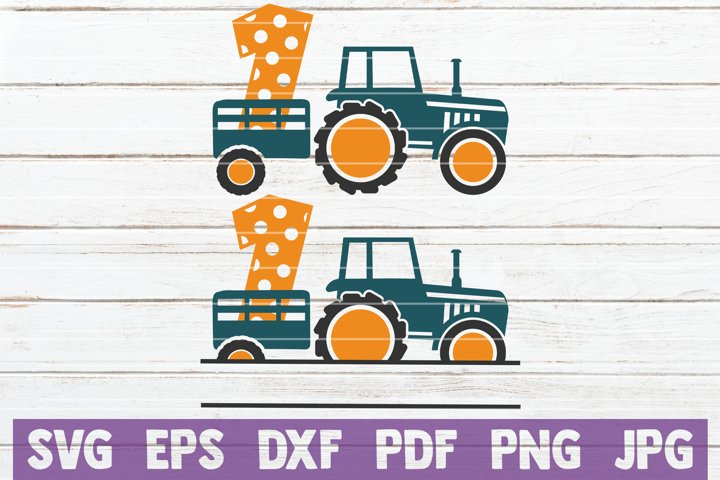 Download Tractor Birthday No 1 SVG Cut File (804306) | Cut Files ...
