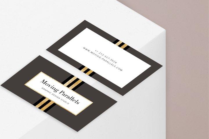 CANVA | Elegant Gold Business Card 7