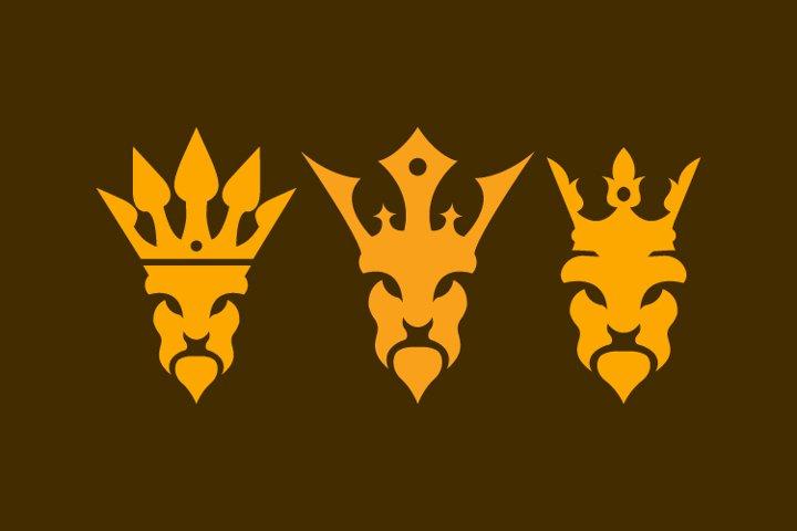 The lion king bundle logo template