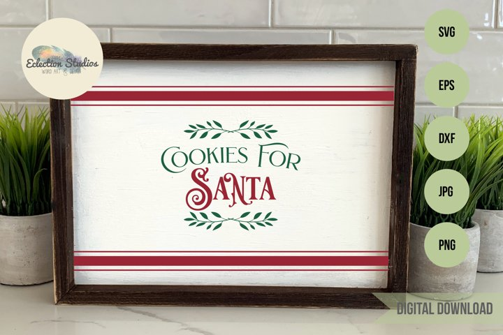 Cookies for Santa Tray SVG