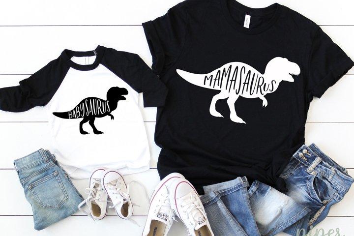 Mamasaurus Svg, Babysaurus Svg, Dinosaur Svg, Mommy & Me Svg