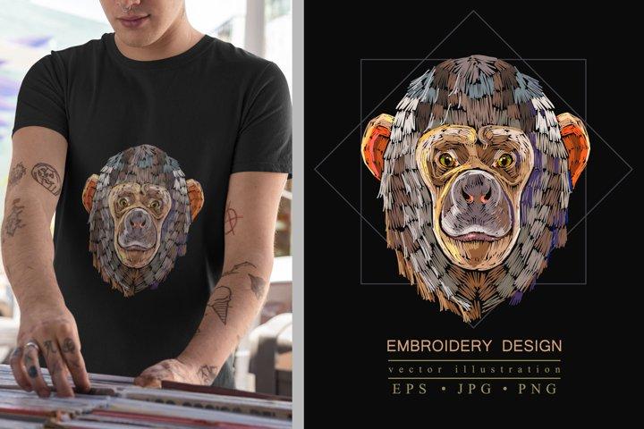Embroidery monkey