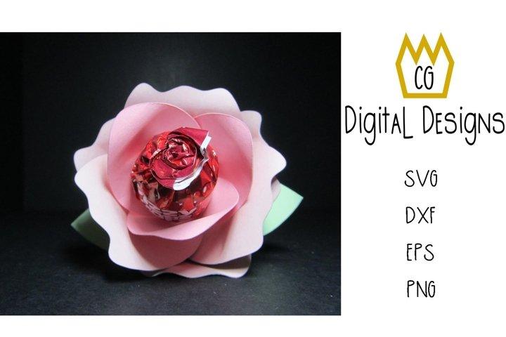 3D Lollipop Rose - Valentine Birthday Teacher - SVG DXF EPS