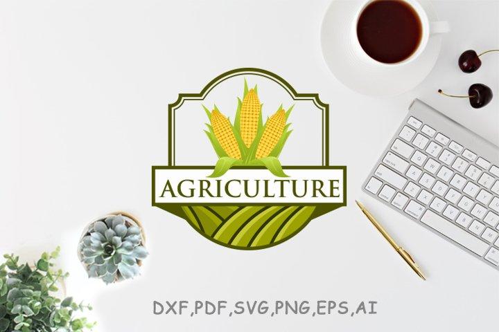 Corn farm logo design