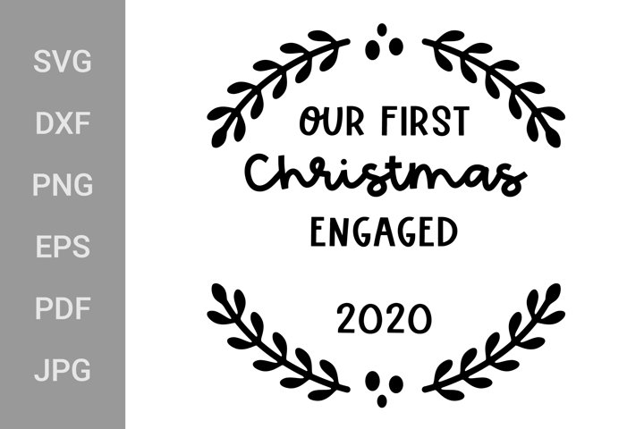 Our First Christmas, Couple Ornaments SVG