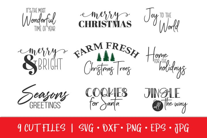 Christmas Crafter Sign Bundle | Christmas SVG PNG DXF EPS