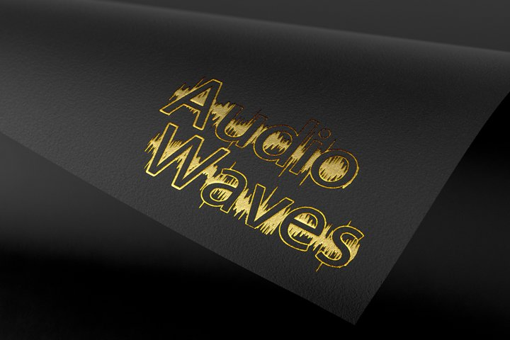 Audio Wave Font | Open Type / Woff example