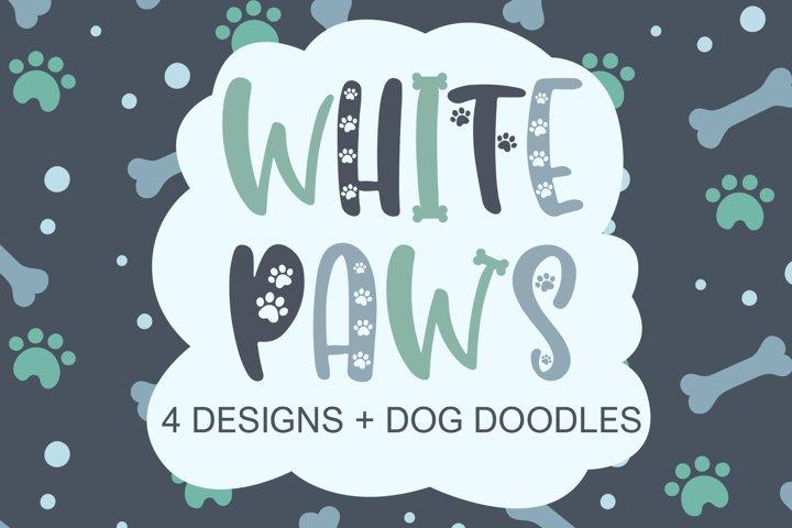 White Paws - 4 Designs With Bonus Doodles