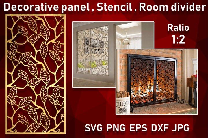 Leaf Decorative panel Wall hanging room divider Stencil