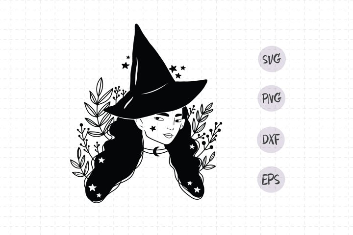 Witch girl Svg / Halloween Witch Svg / halloween svg /