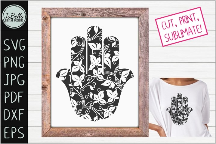 Buddha Palm / Jewish Hamsa SVG, Printable & Sublimation PNG