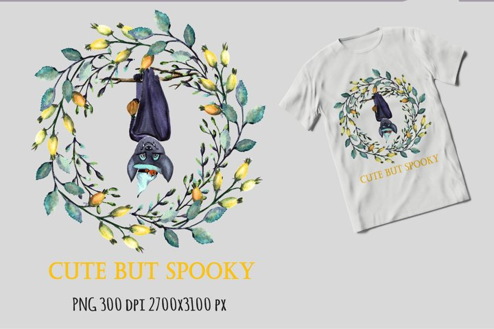 Halloween sublimation design png. Cute but spooky