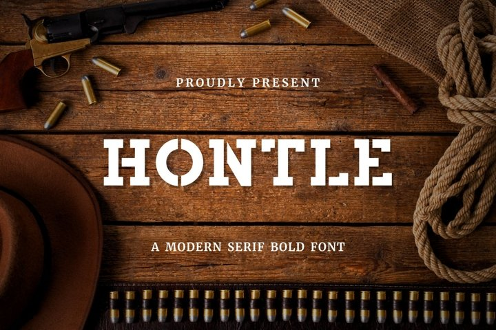 Hontle - Slab Serif Display Font