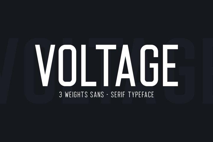 Voltage Sans Serif