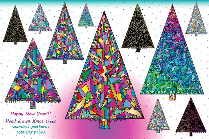 Happy New Year! Christmas trees!
