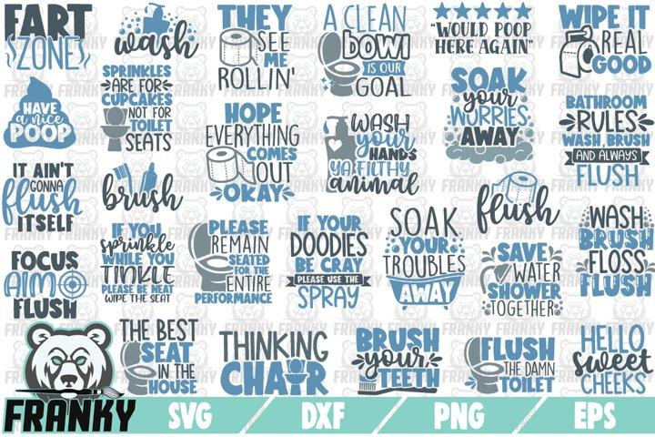 Bathroom SVG Bundle - 27 Designs - Cut files