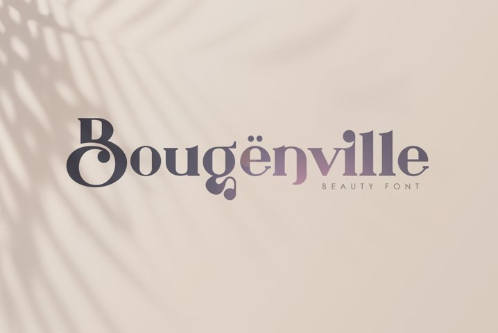 Bougenville Modern Vintage Serif