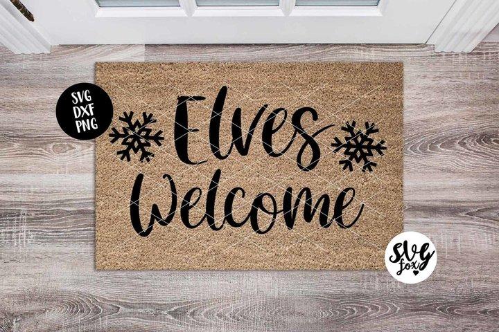 Elves Welcome Christmas Doormat SVG