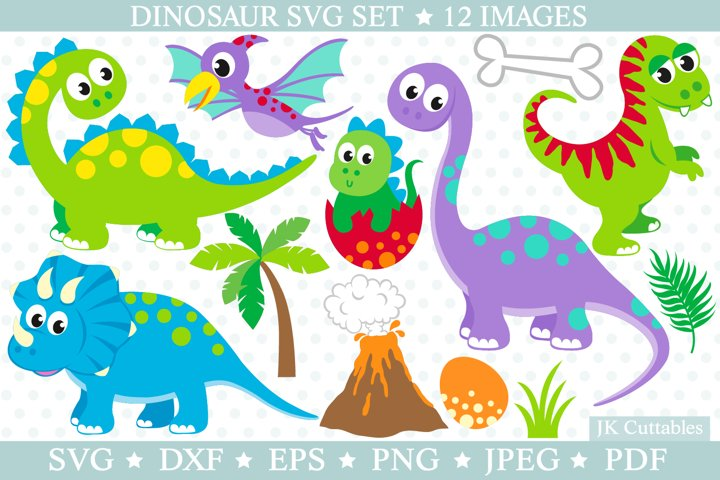 Dinosaur SVG cut files for crafters