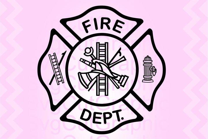 Fire Department Svg Files, Fire Dept Svg Sign, Cricut Files