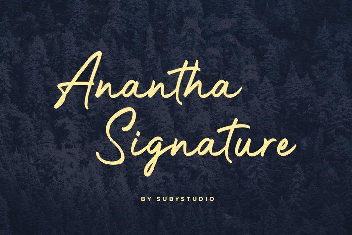 Anantha Signature