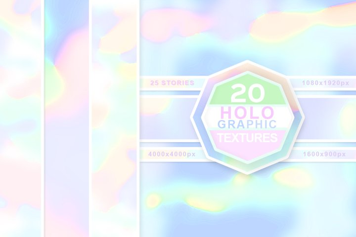 Holographic Textures. Abstract Backgrounds.