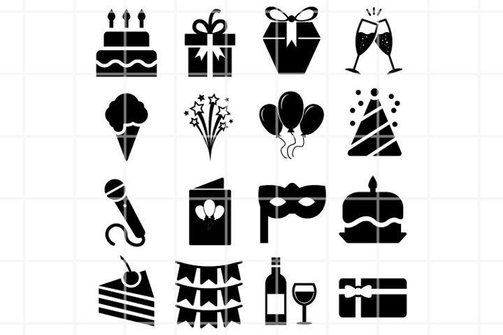 Celebration SVG. Birthday set for cut. Anniversary clipart.
