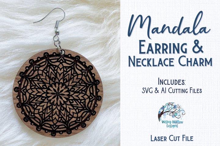 Mandala Earrings for Glowforge or Laser Cutter
