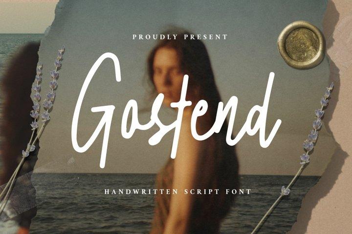Gostend - Handwritten Script Font