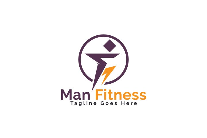 Man Fitness Logo Design.