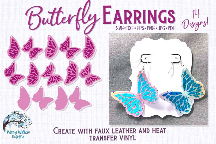 Butterfly Earrings for Cricut, Silhouette or Vinyl Cutter