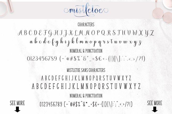 Mistletoe - Font Duo + Bonus - Free Font of The Week Design8
