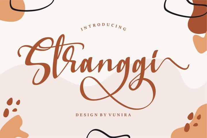 Stranggi | A Stylish Handwritten Font