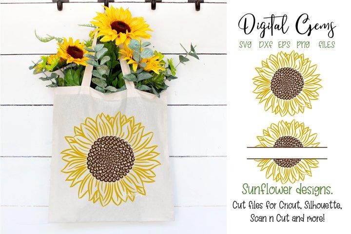 Sunflower designs SVG / PNG / EPS / DXF Files