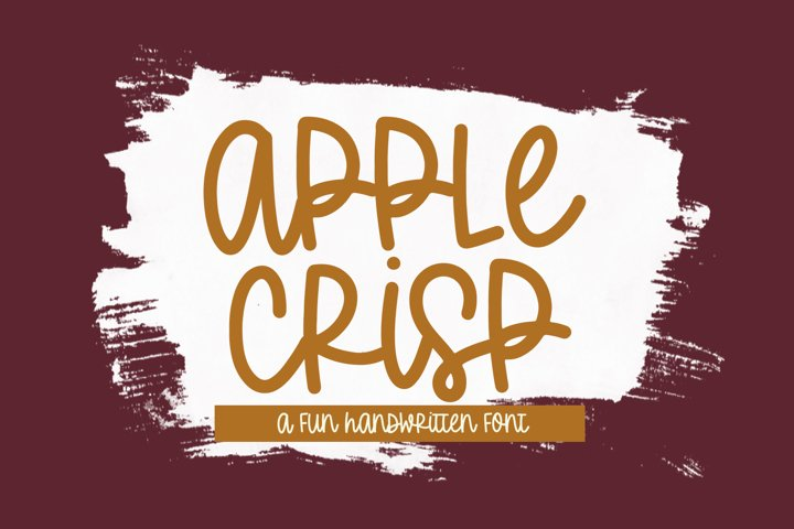 Apple Crisp - A Quirky Handwritten Font