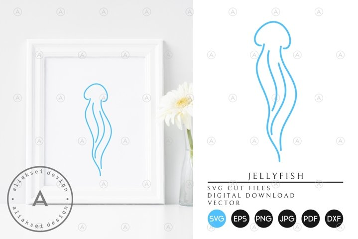 Jellyfish | Outline Style SVG