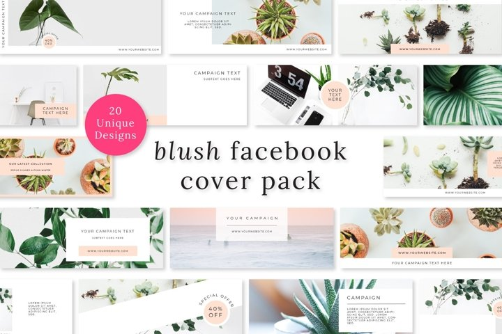 Blush Facebook Cover Pack
